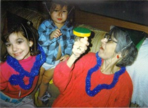 A new year's celebration with my grandmother and younger sister.   I was 11 years old.