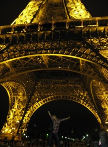 Wine making in France wasn't complete without a trip to La Tour Eiffel