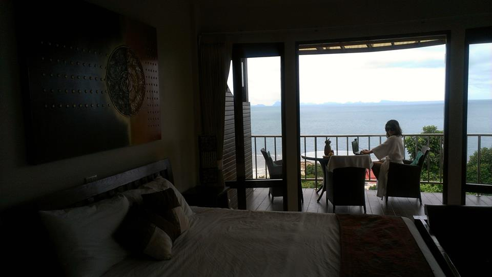 From where I'd (usually) rather be. Our 2013 summer apartment in the exotic, Koh Phangnan, Thailand.