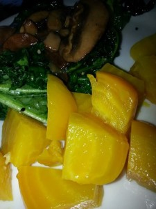 Oh how I love the texture of  golden beets!  Chewing is fun.