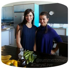 Darya and I at CreativeLive in the kitchen!