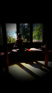 Taking in the beauty during a past visit to Esalen
