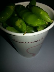 An awesome green flight snack.