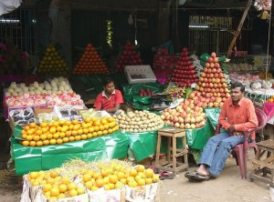 fruit stands are everywhere!