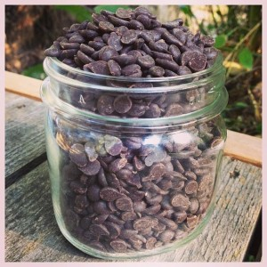 Heirloom organic raw vegan chocolate chips (photo courtesy of Bethanne Wanamaker)