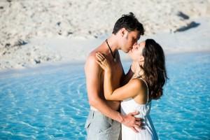 Joe and Lana kiss