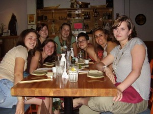 Love this shot from 2007!  I've always loved to bring friends together to eat...this one was a fav sushi spot in Madison, Wisconsin