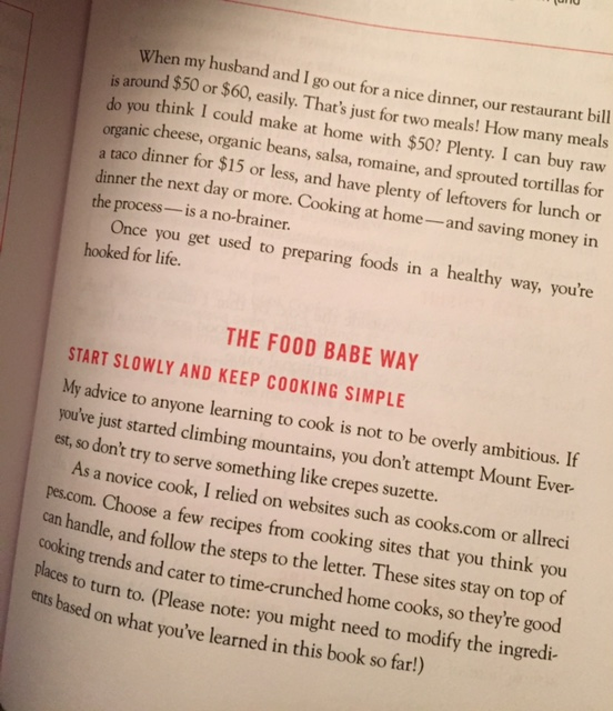 a quick glimpse inside the book, The Food Babe Way