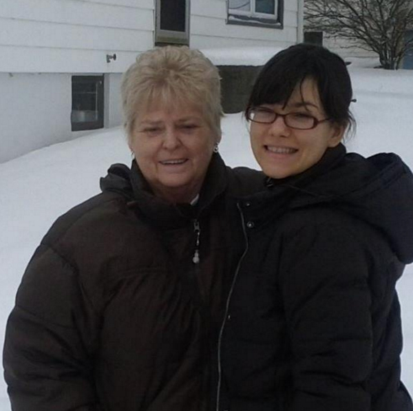 My grandmother and I in Wisconsin in 2013